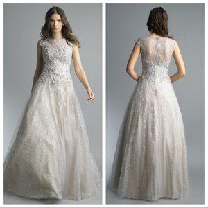 NWT BHLDN Basix Black Label Beaded Wedding Dress